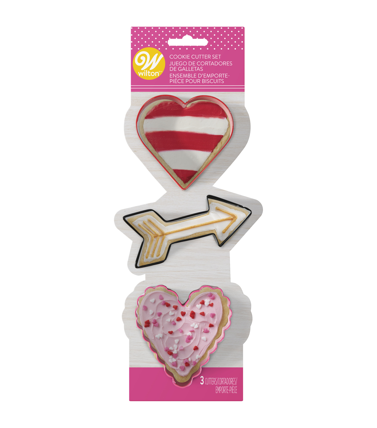 Wilton Valentine 3pc Cookie Cutter Set