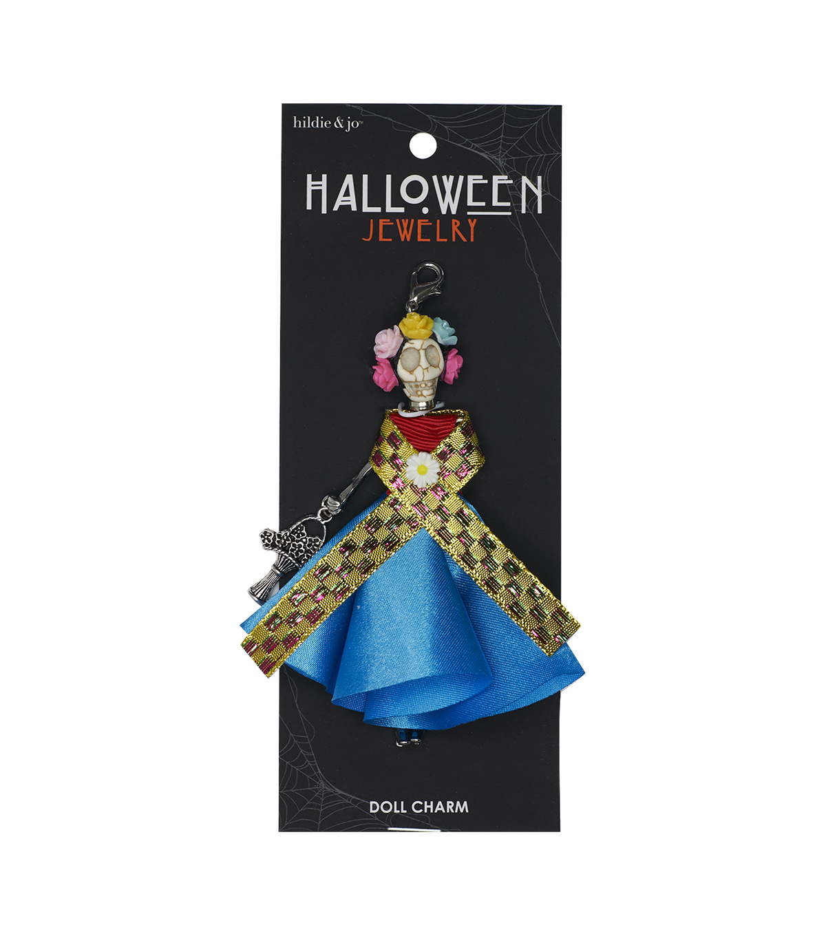 hildie & jo Halloween Doll Pendant-Day Of The Dead Floral Crown Romina
