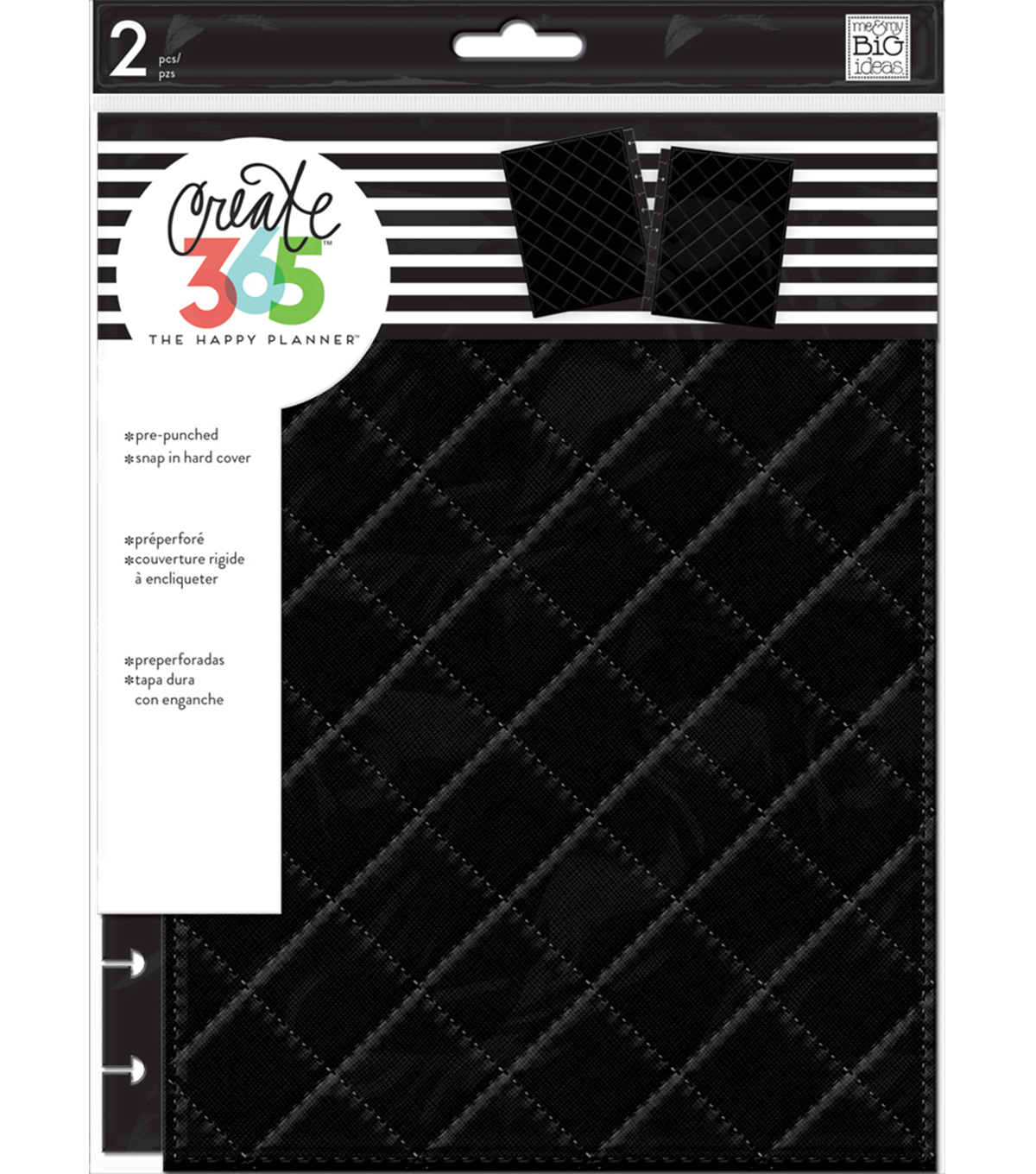 The Happy Planner Classic Snap-In Hard Cover Planner-Black