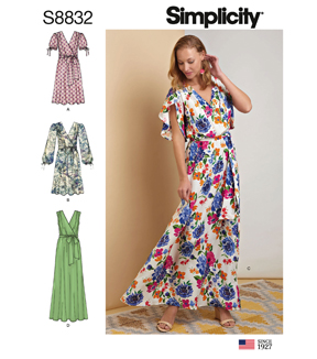 Simplicity Pattern S8832 Misses\u0027 Pullover Dress-Size R5 (14-16-18-20-22)