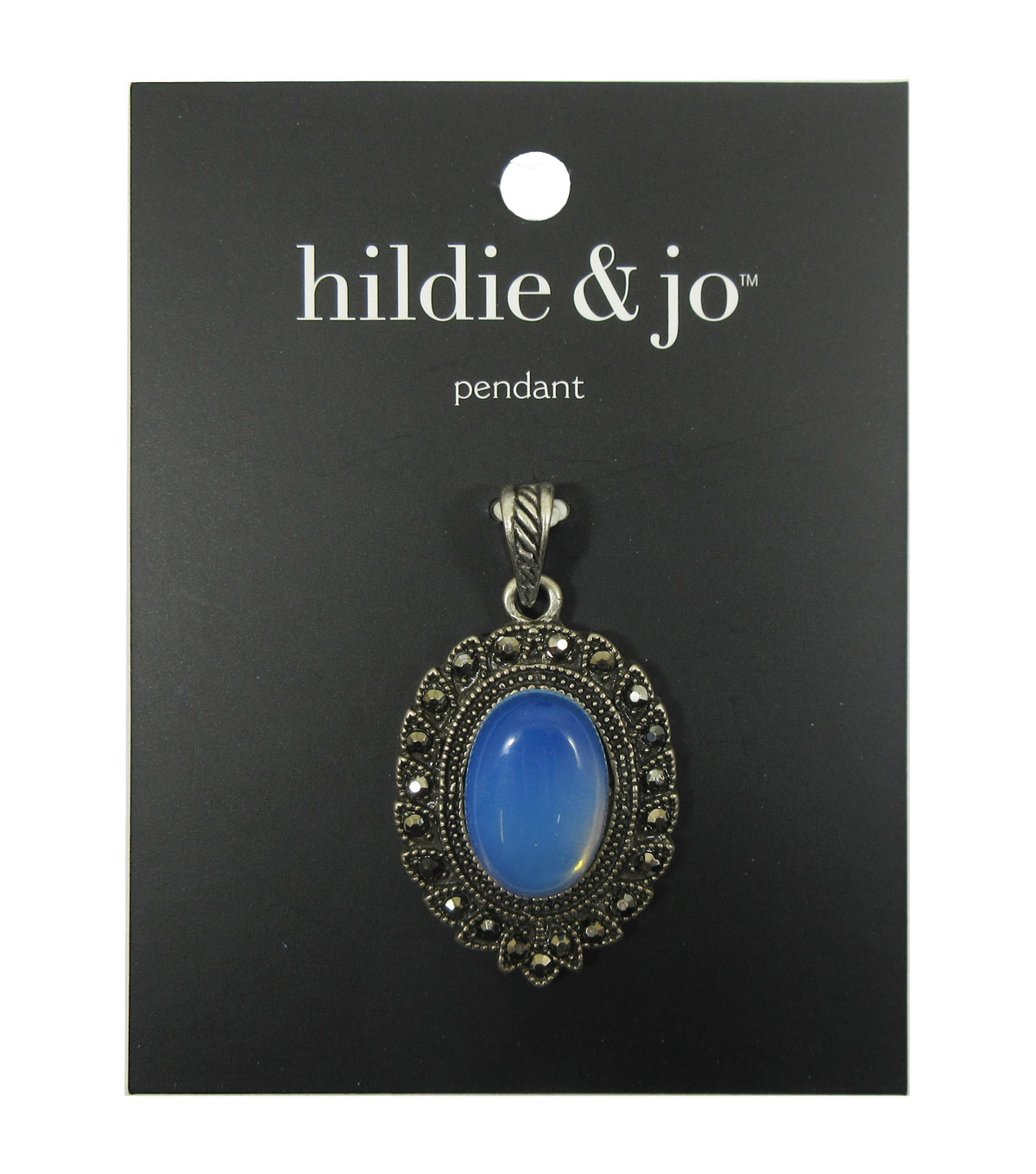 hildie & jo Ornamental Oval Metal Pendant