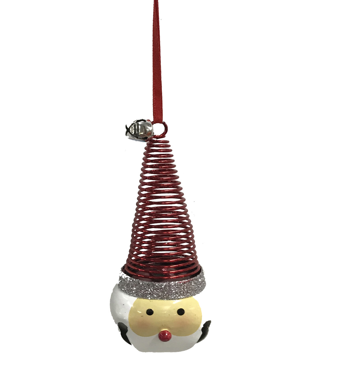 Maker\u0027s Holiday Christmas Whimsy Workshop Metal Santa Bell Ornament