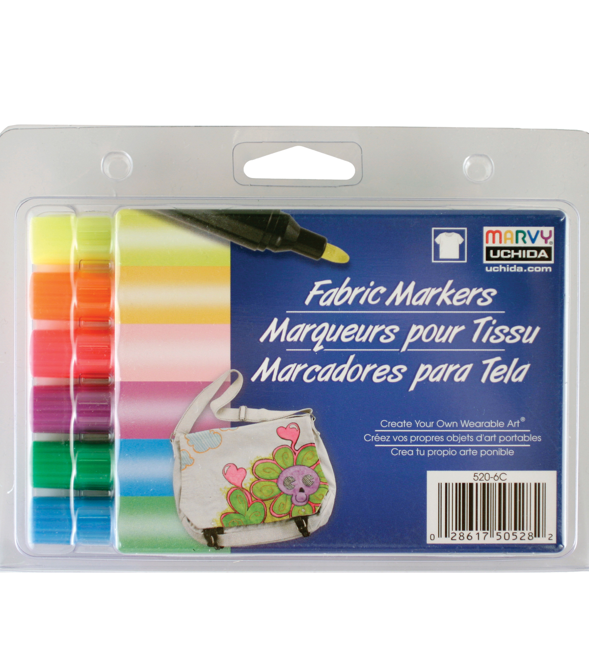 Marvy Uchida Bold Tip Fluorescent Fabric Marker Set