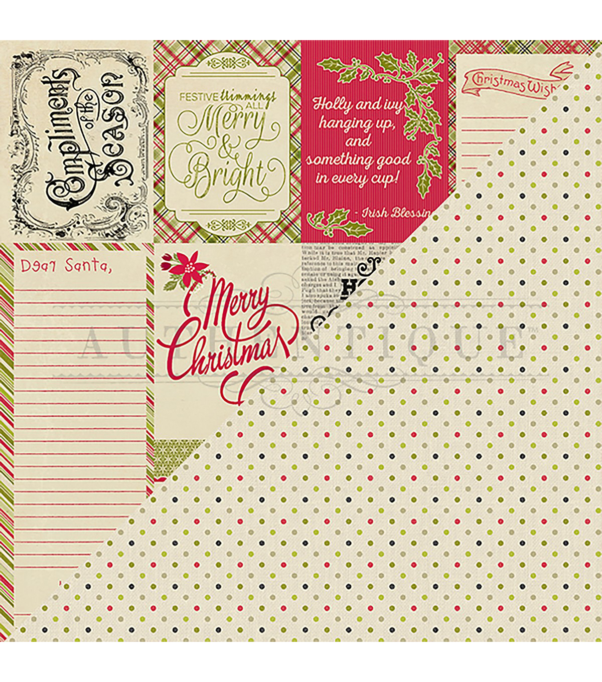 Nostalgia Double-Sided Cardstock 12X12-#8 Greetings & Wish Lists
