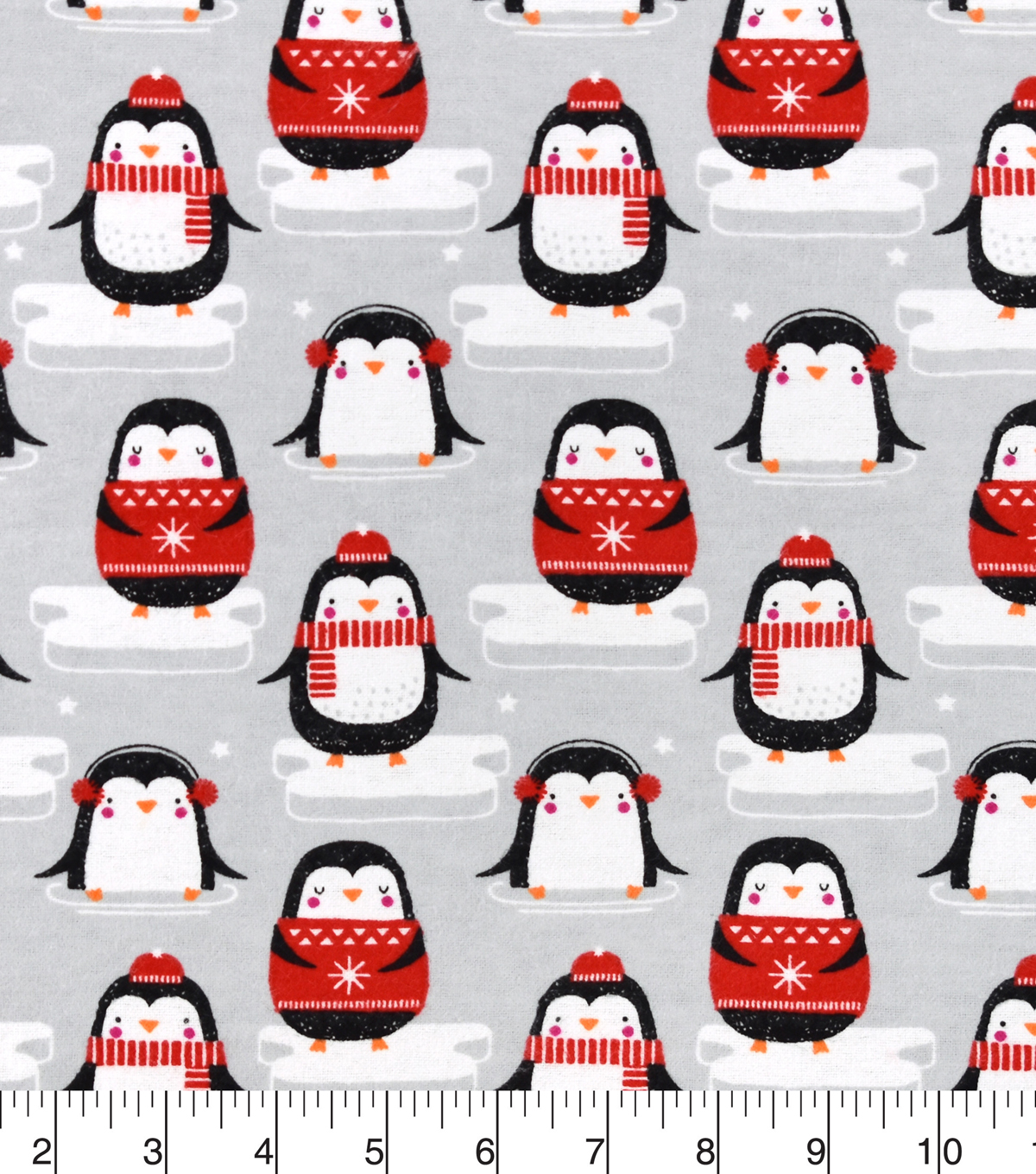 Snuggle Flannel Fabric 42\u0022-Penguins on Ice