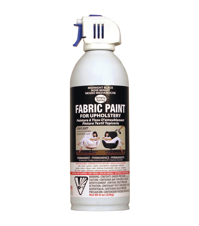 Upholstery Spray Fabric Paint 8oz Midnight Black