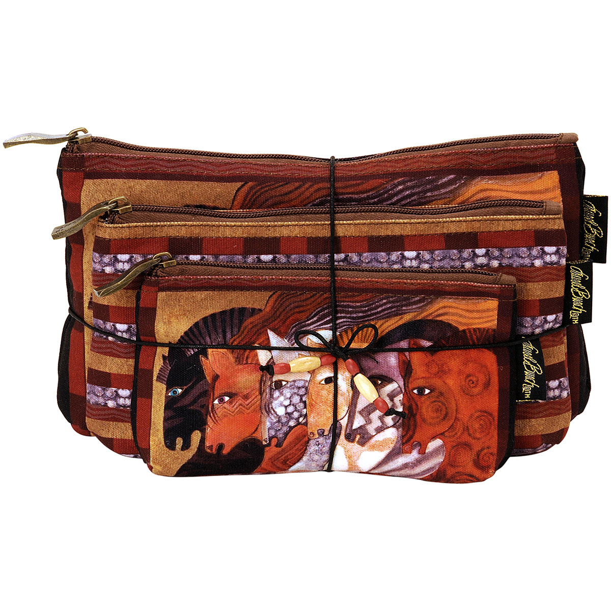 Laurel Burch Cosmetic Bag Set Of Three-Moroccan Mares