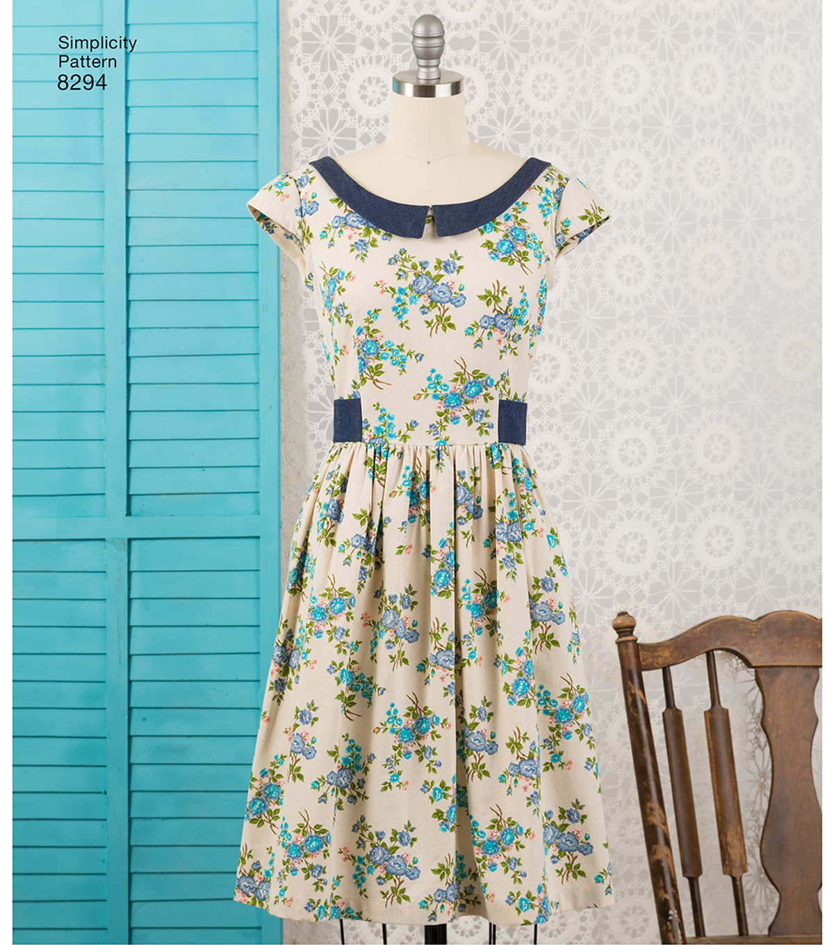 Simplicity Pattern 8294 Misses\u0027 Petite Dress & Sash-Size U5 (16-24)