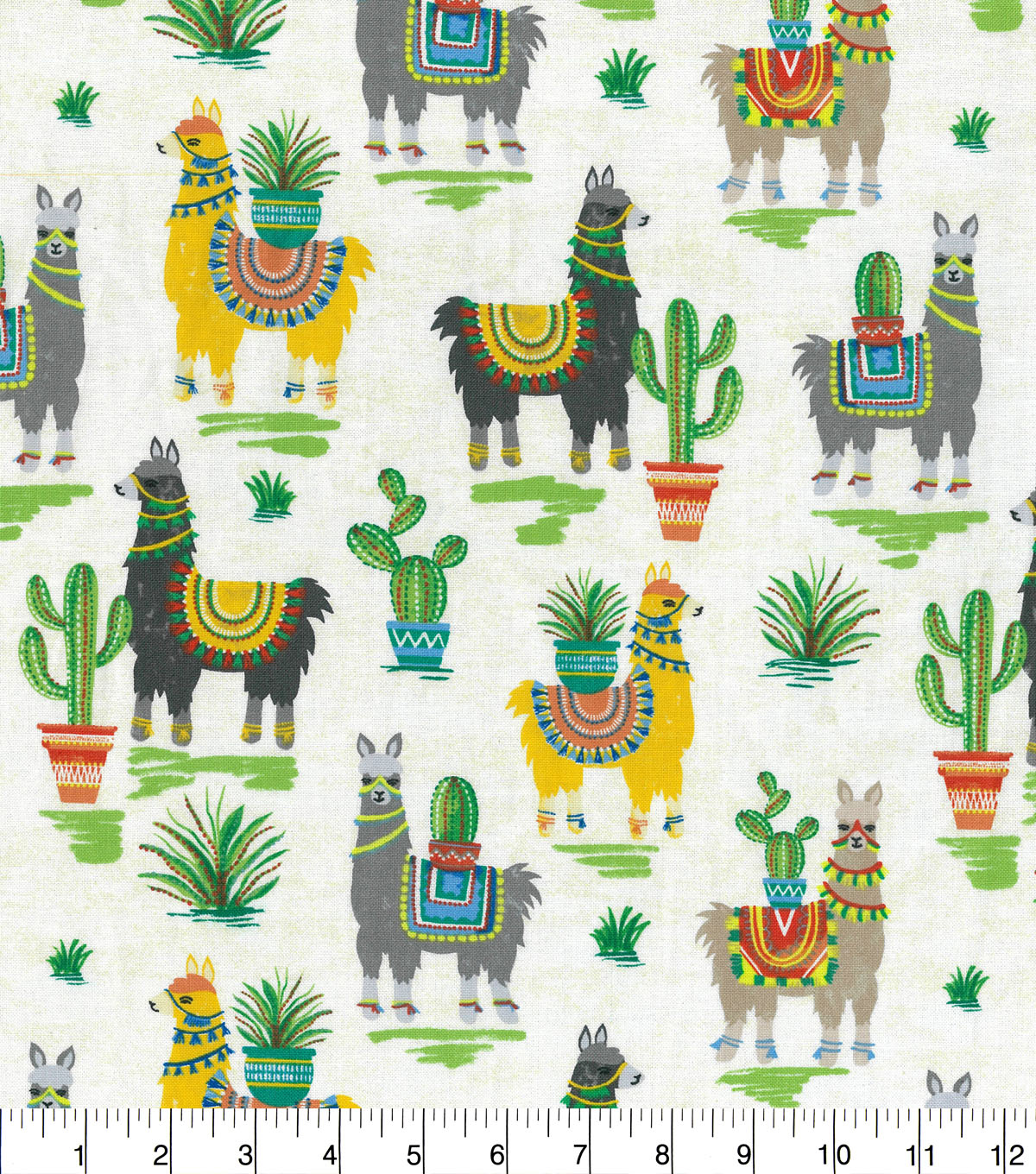 Novelty Cotton Fabric-Trendy Llamas