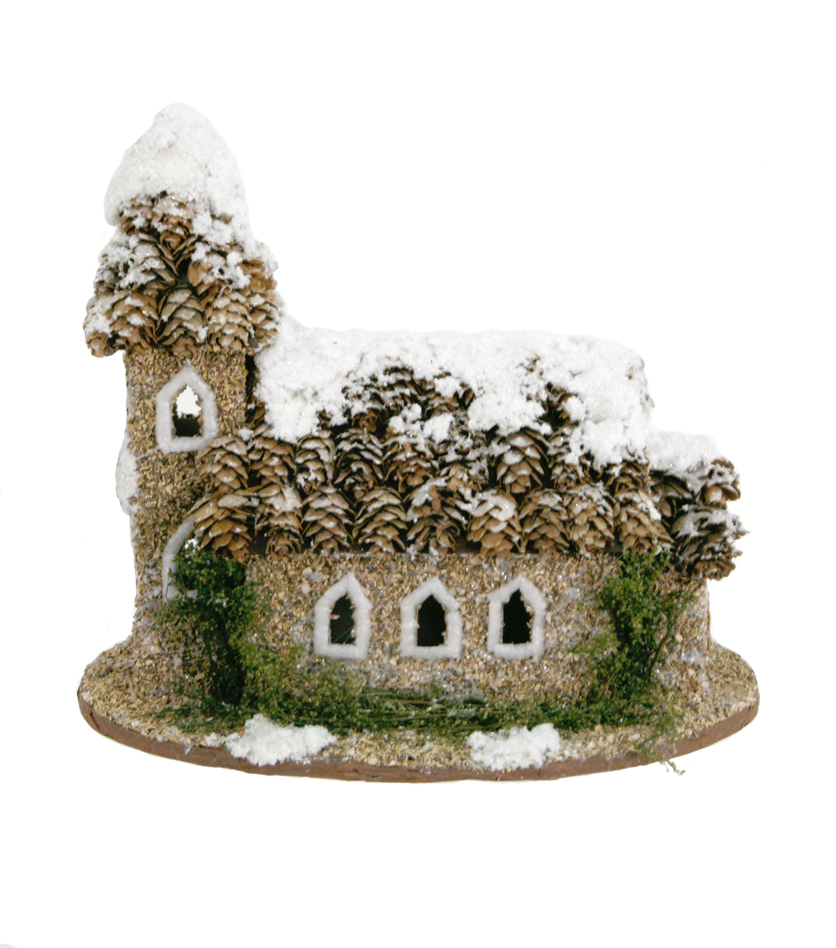Maker\u0027s Holiday Natural House With Pinecone Roof