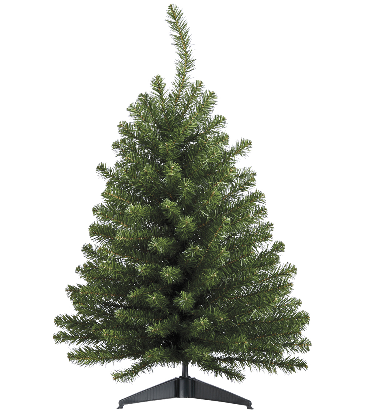4\u0027 Balsam Pine Tree Clear Lights on Metal Stand