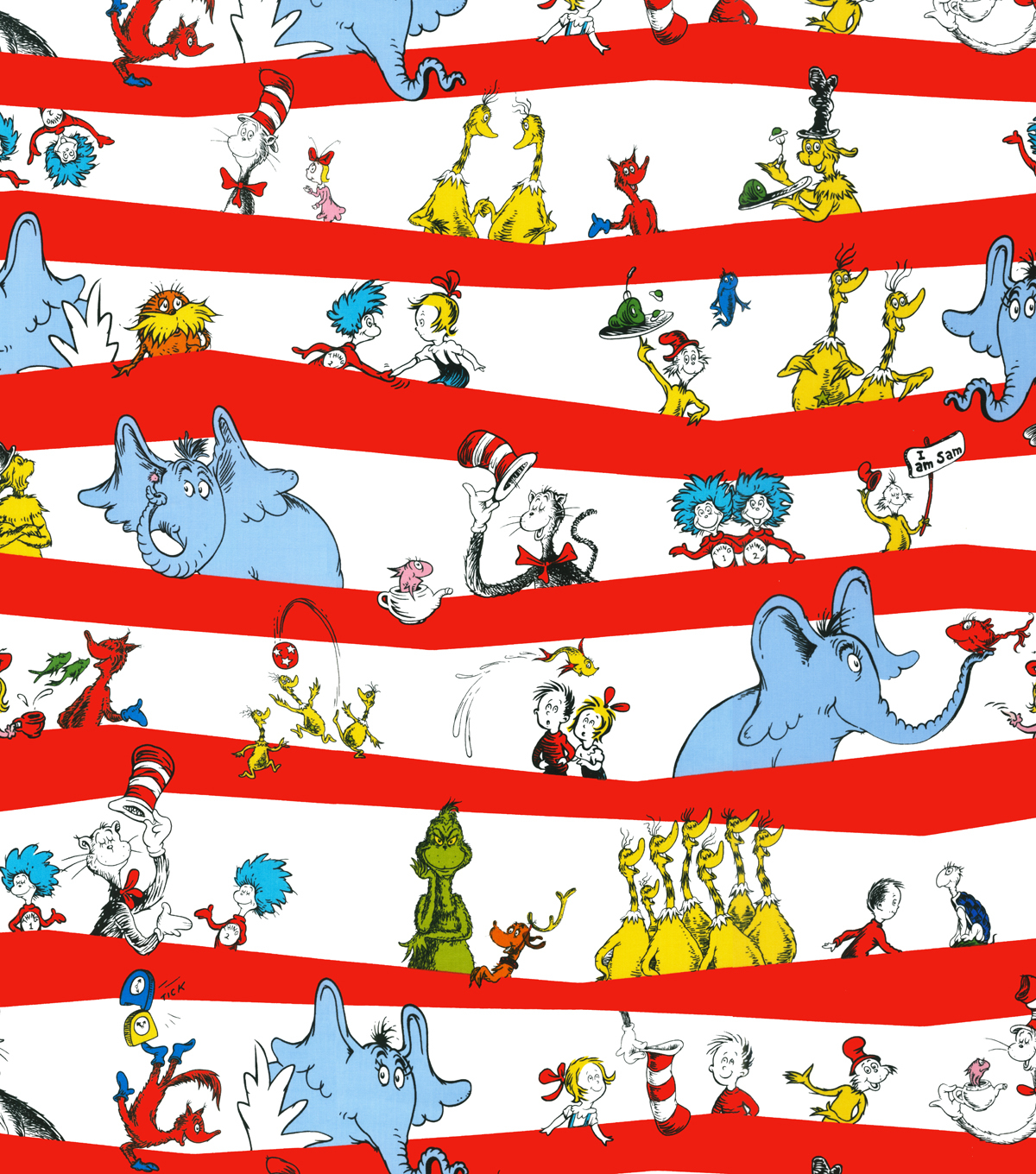 Dr Seuss Cotton Fabric 44 Stripe Joann