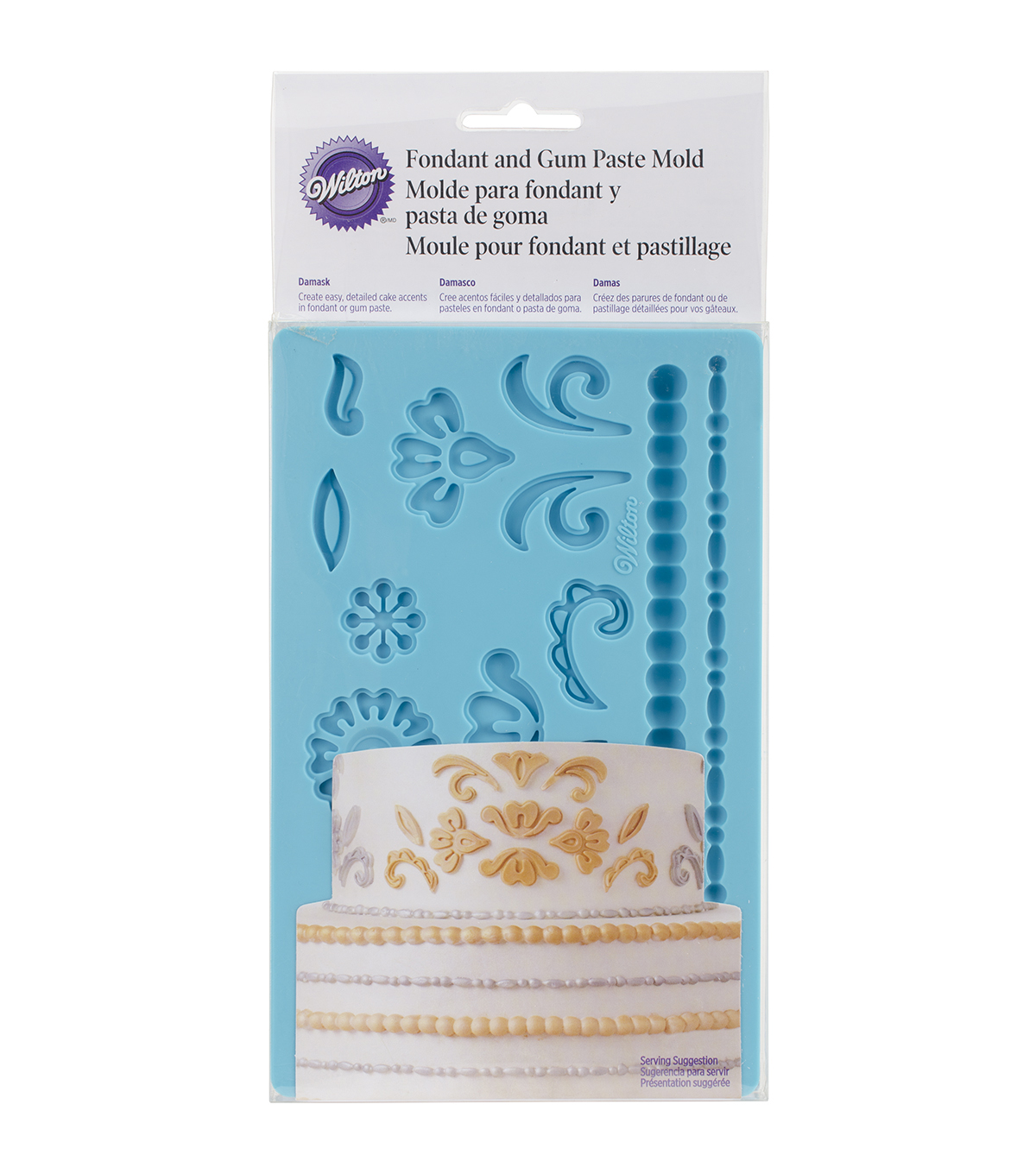 Wilton Fondant & Gum Paste Mold-Damask