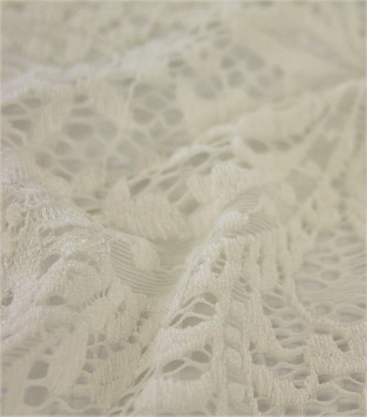 Stretch Knit Fabric-Solid Ivory Paisley Floral