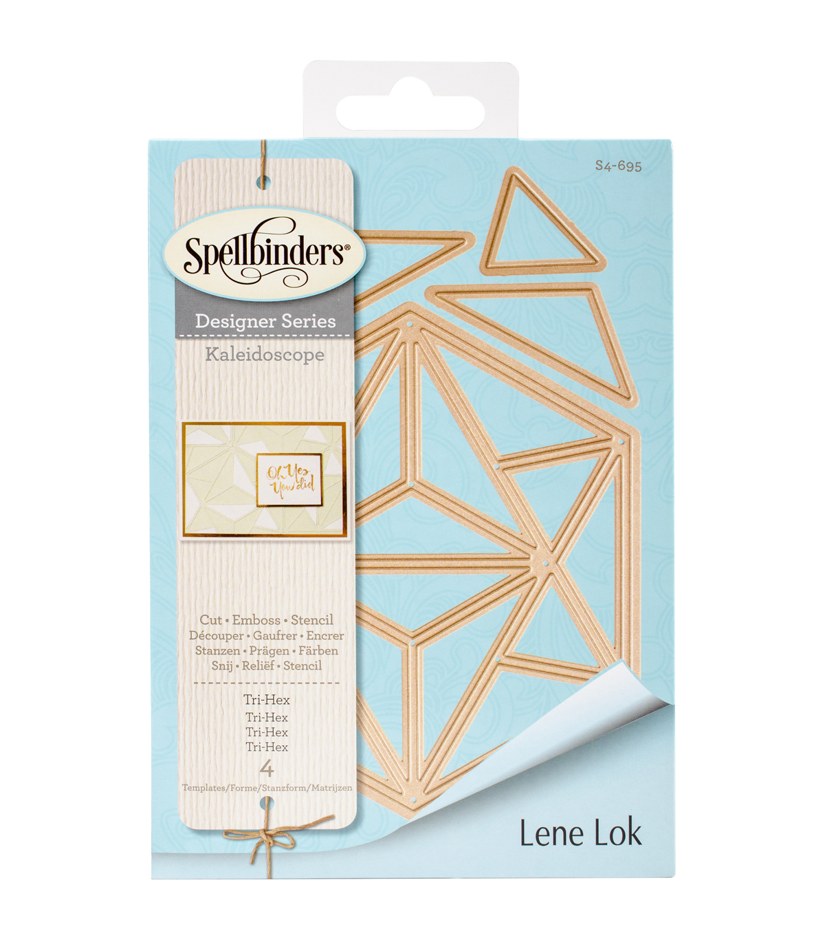 Spellbinders Shapeabilities 4 Pack Etched Dies-Tri-Hex