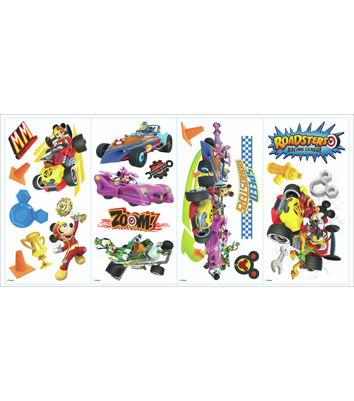 York Wallcoverings Wall Decals-Mickey and the Roadsters Racers