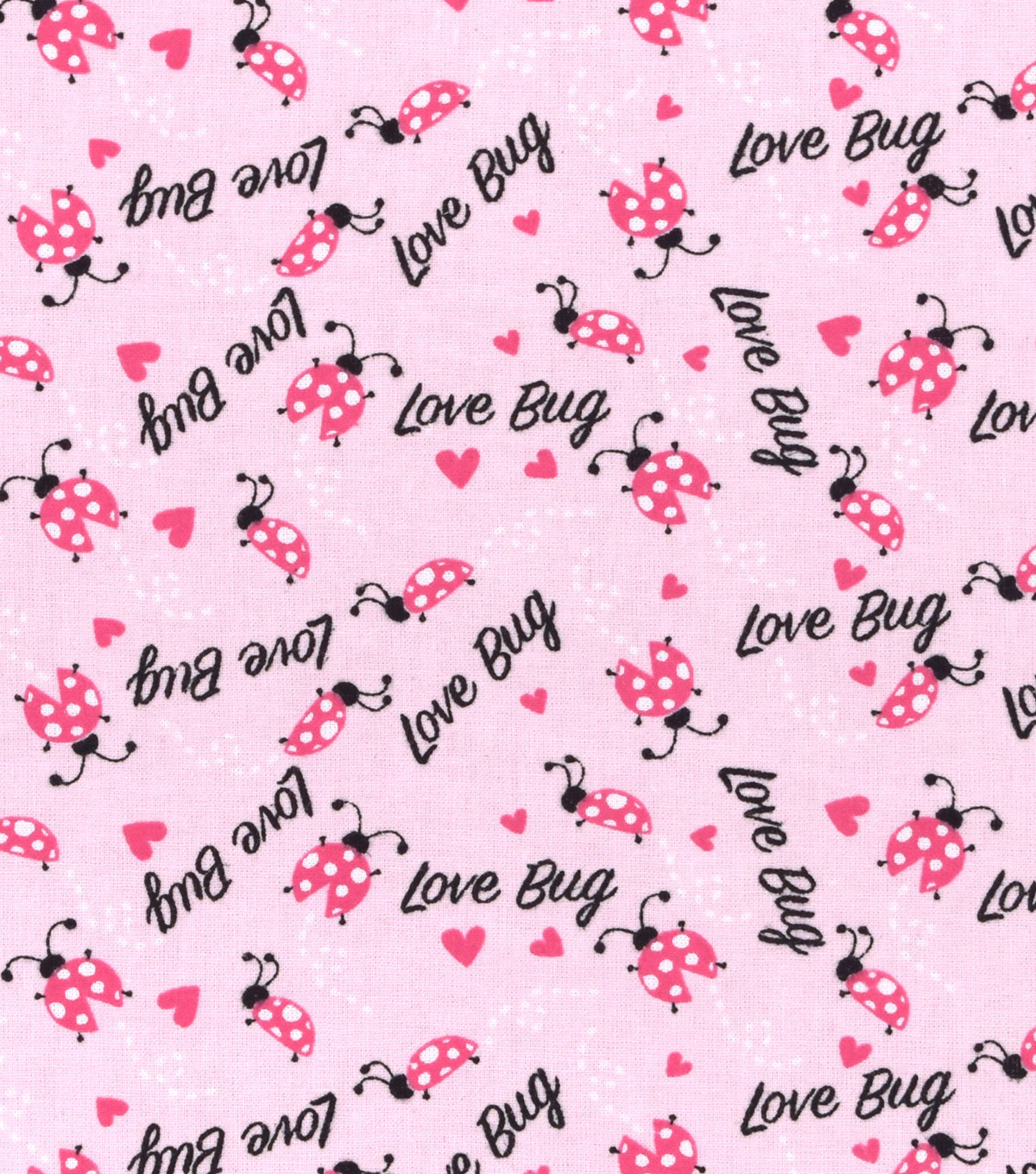 Nursery Cotton Fabric -Lady Bug Love Toss