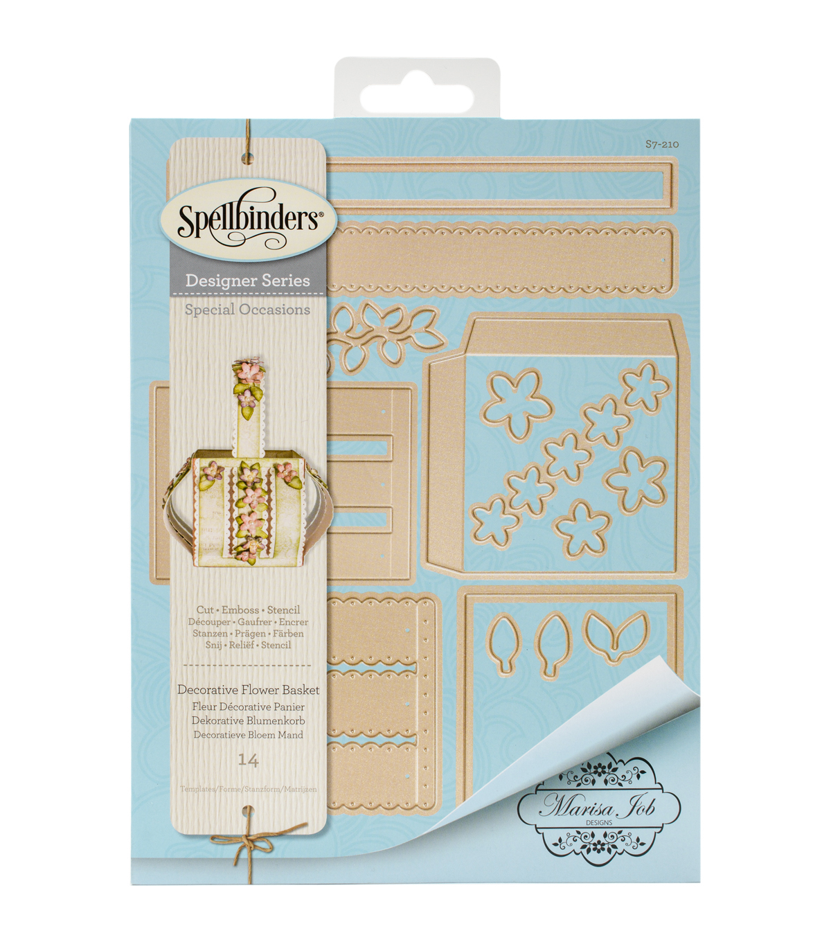 Spellbinders Shapeabilities Die-Decorative Flower Basket