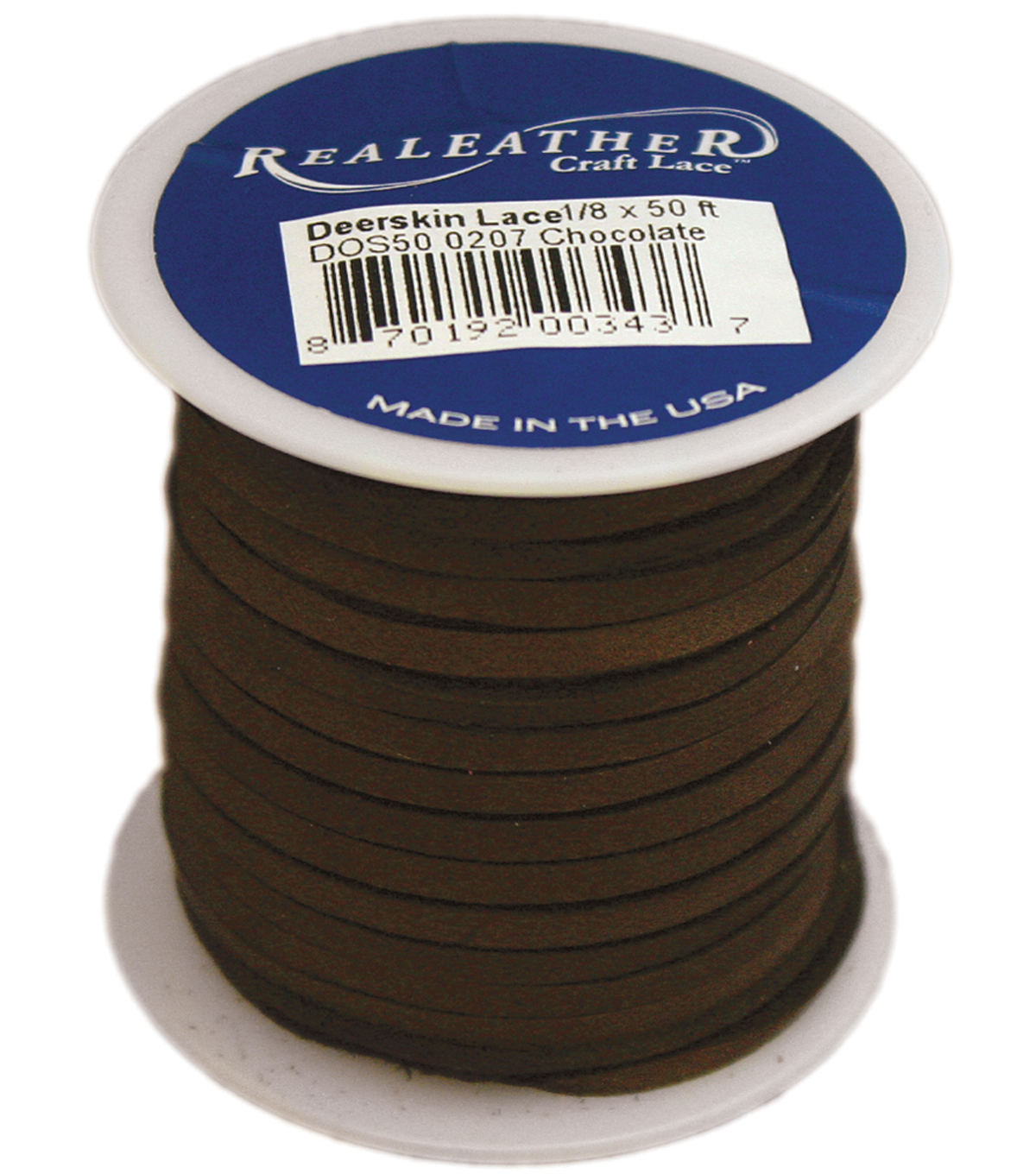 Realeather Crafts Deerskin Lace Spool 0.13 u0027 u0027x50 feet 20a7e3564d136