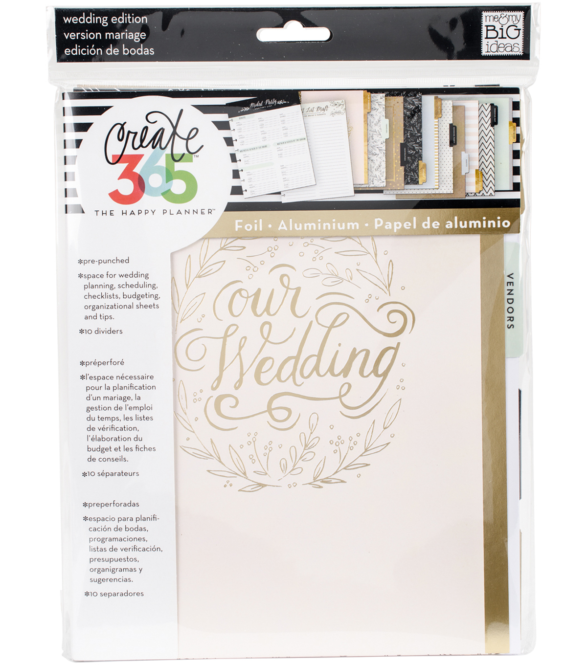 The Happy Planner Extension Pack-Wedding