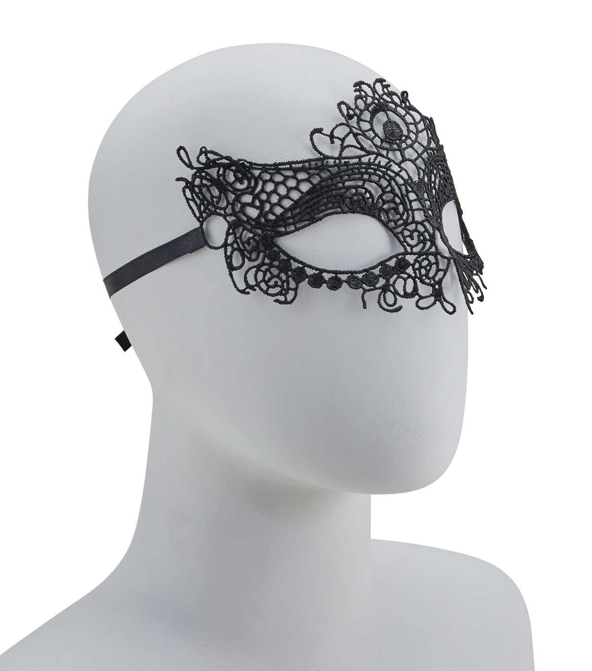 Maker\u0027s Halloween Mask-Lace Black