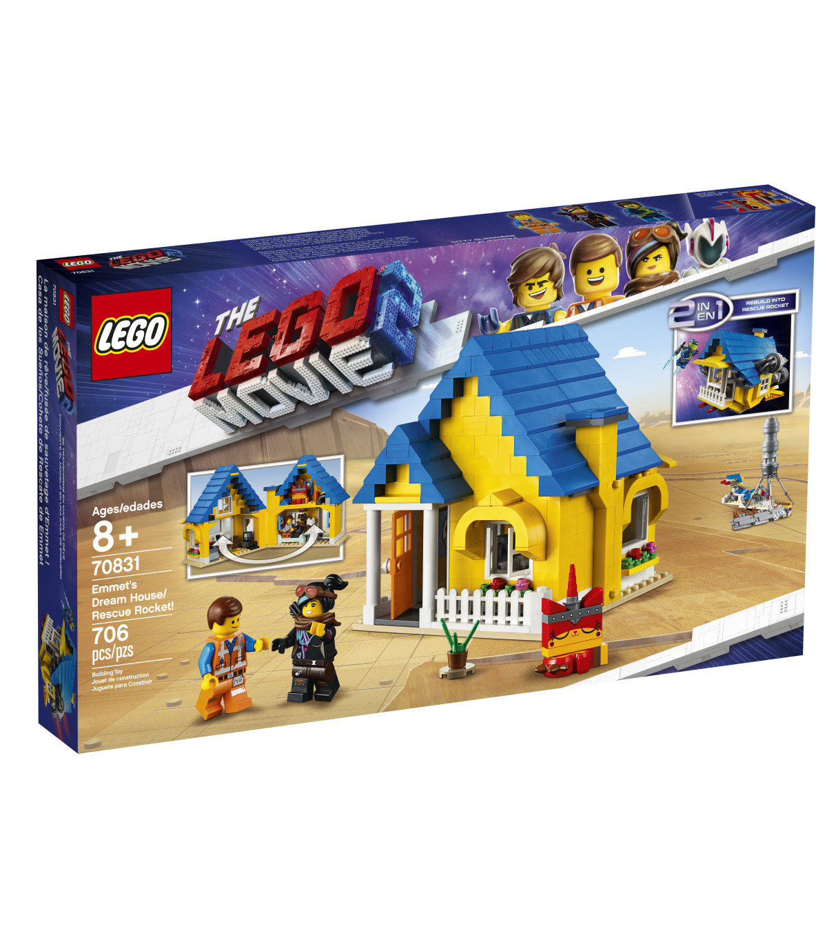 LEGO Movie Emmet\u0027s Dream House/Rescue Rocket! 70831