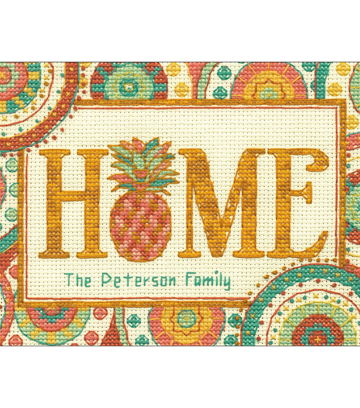 Dimensions 7\u0027\u0027x5\u0027\u0027 Counted Cross Stitch Kit-Pineapple Home