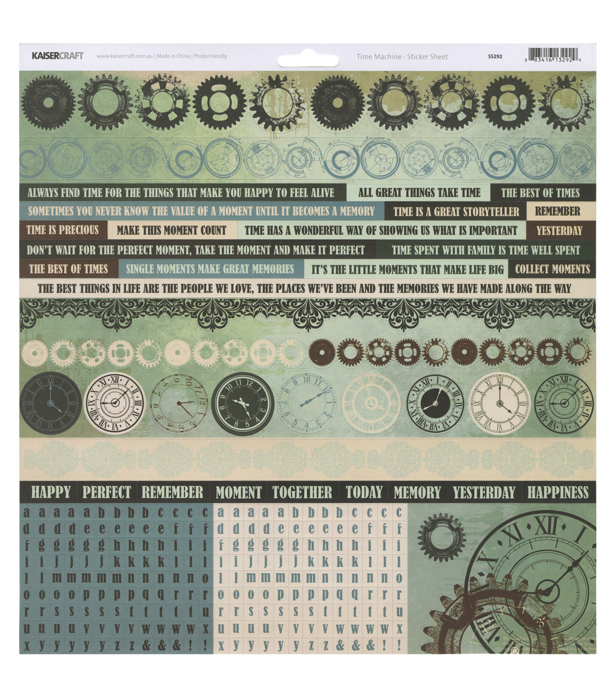 Kaisercraft Time Machine 12\u0027\u0027x12\u0027\u0027 Cardstock Stickers