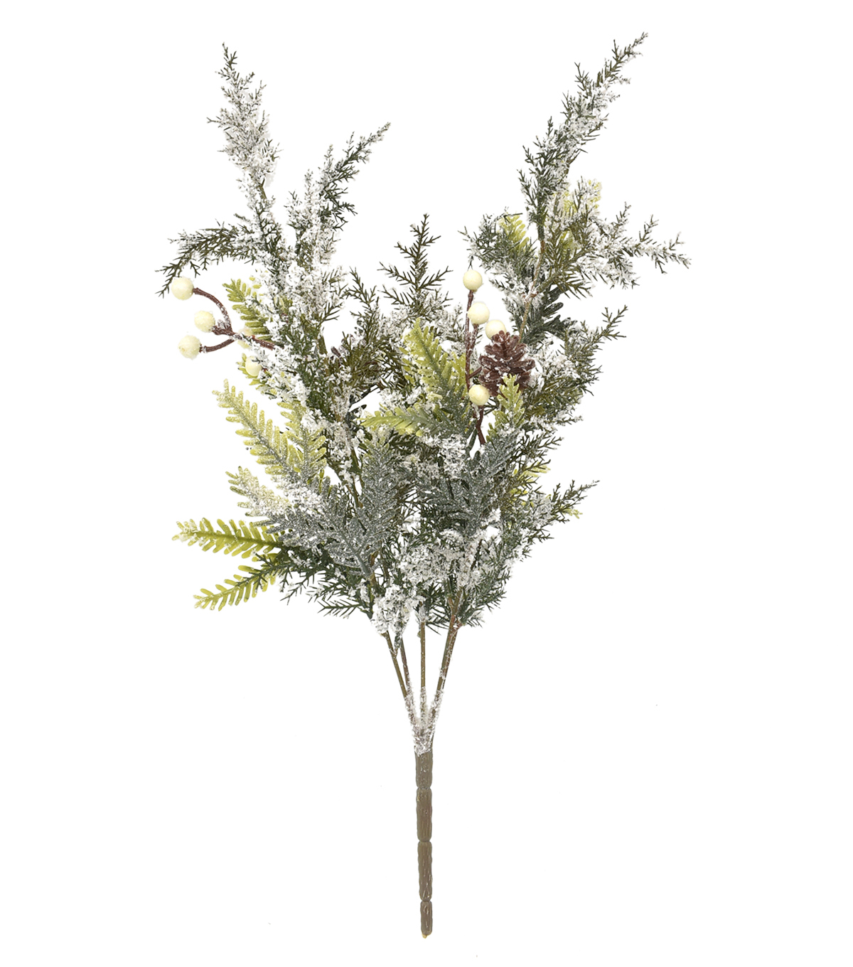 Handmade Holiday Christmas Frosted Pine & White Berry Bush