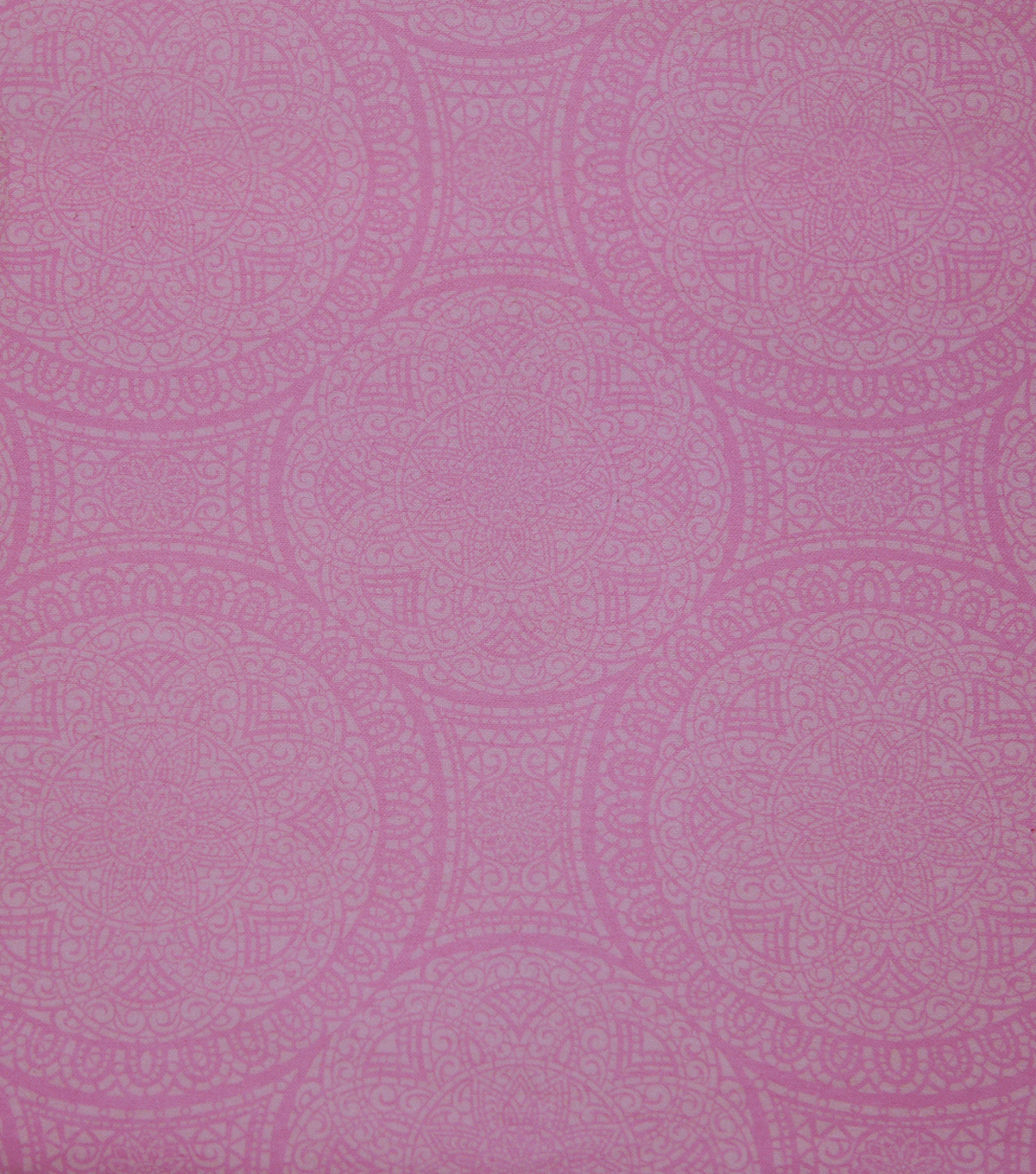 Wide Flannel Fabric-Pink Mediallion