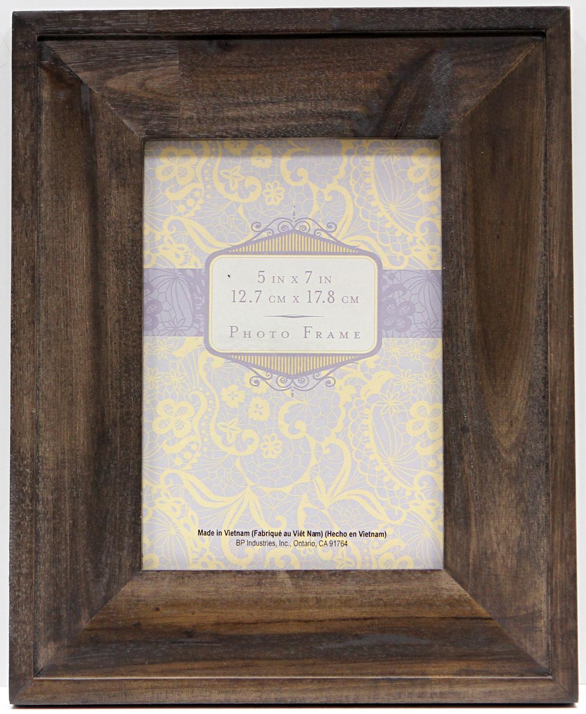 5x7 wide wood dark gray frame joann