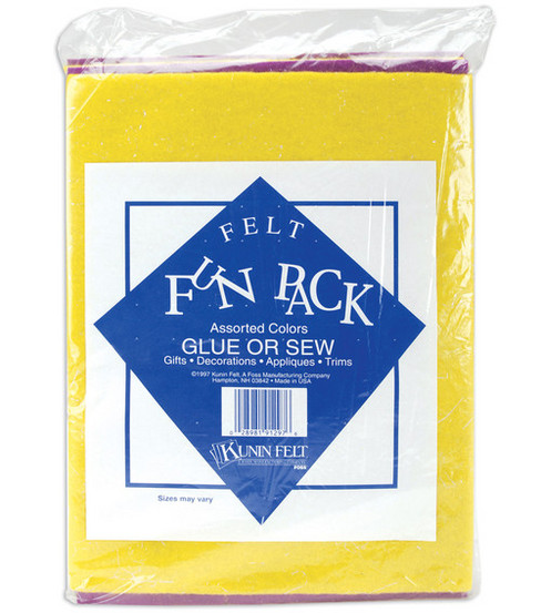 Craft Felt Fun Pack 9\u0022x12\u0022-Assorted