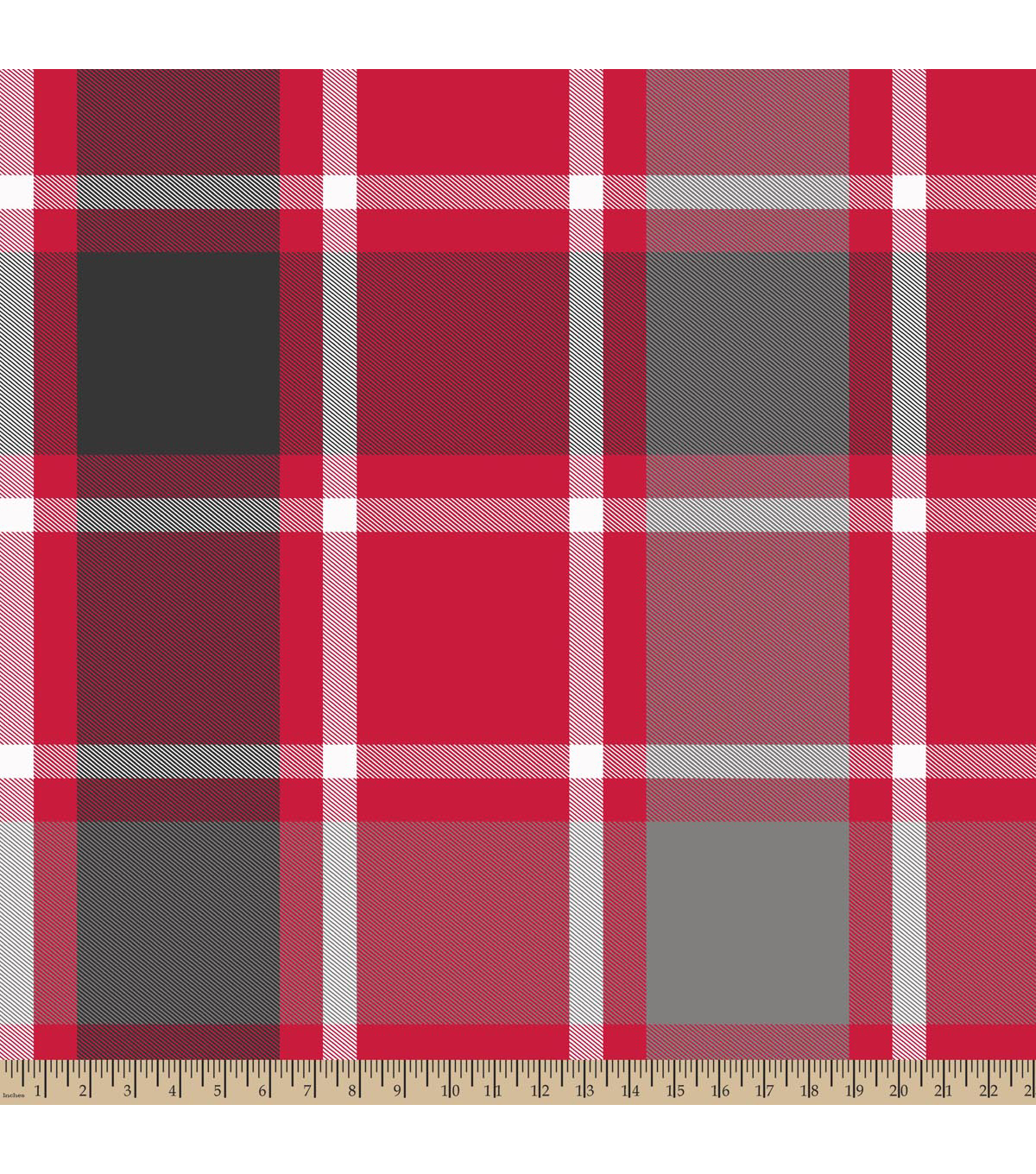 Blizzard Fleece Fabric -Bruno Plaid Gray