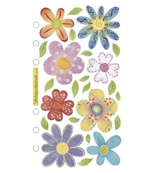 Blue Flowers Vellum Purple Sticko Stickers