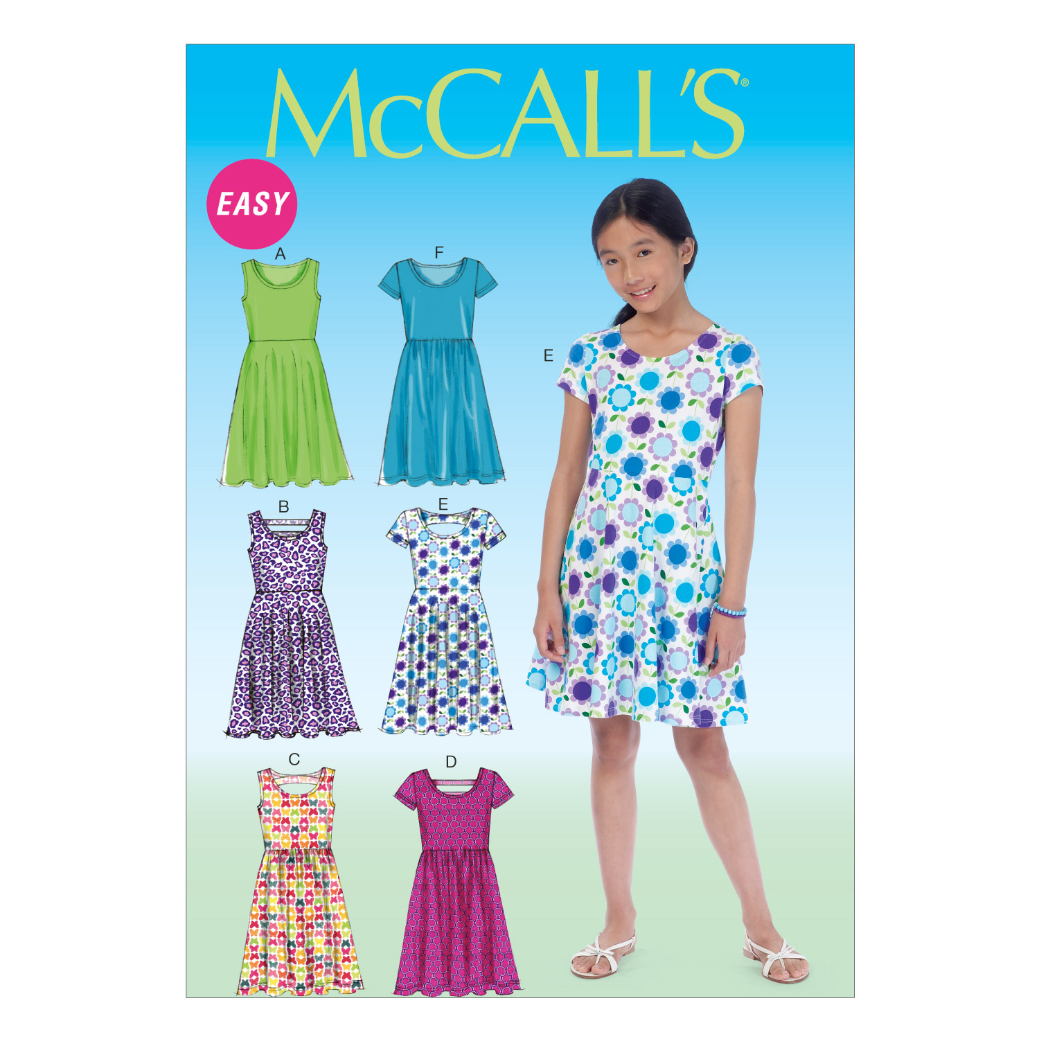 McCall\u0027s Girls\u0027 Dress-M7079