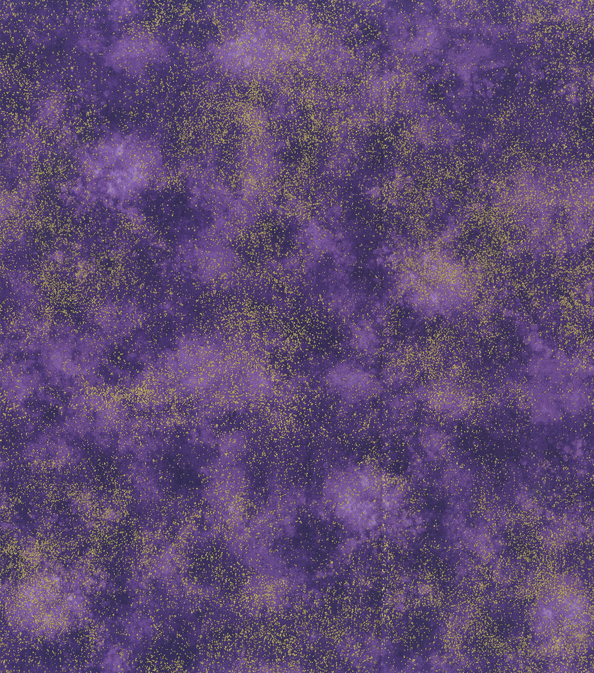 Premium Cotton Fabric-Purple Clouds with Gold