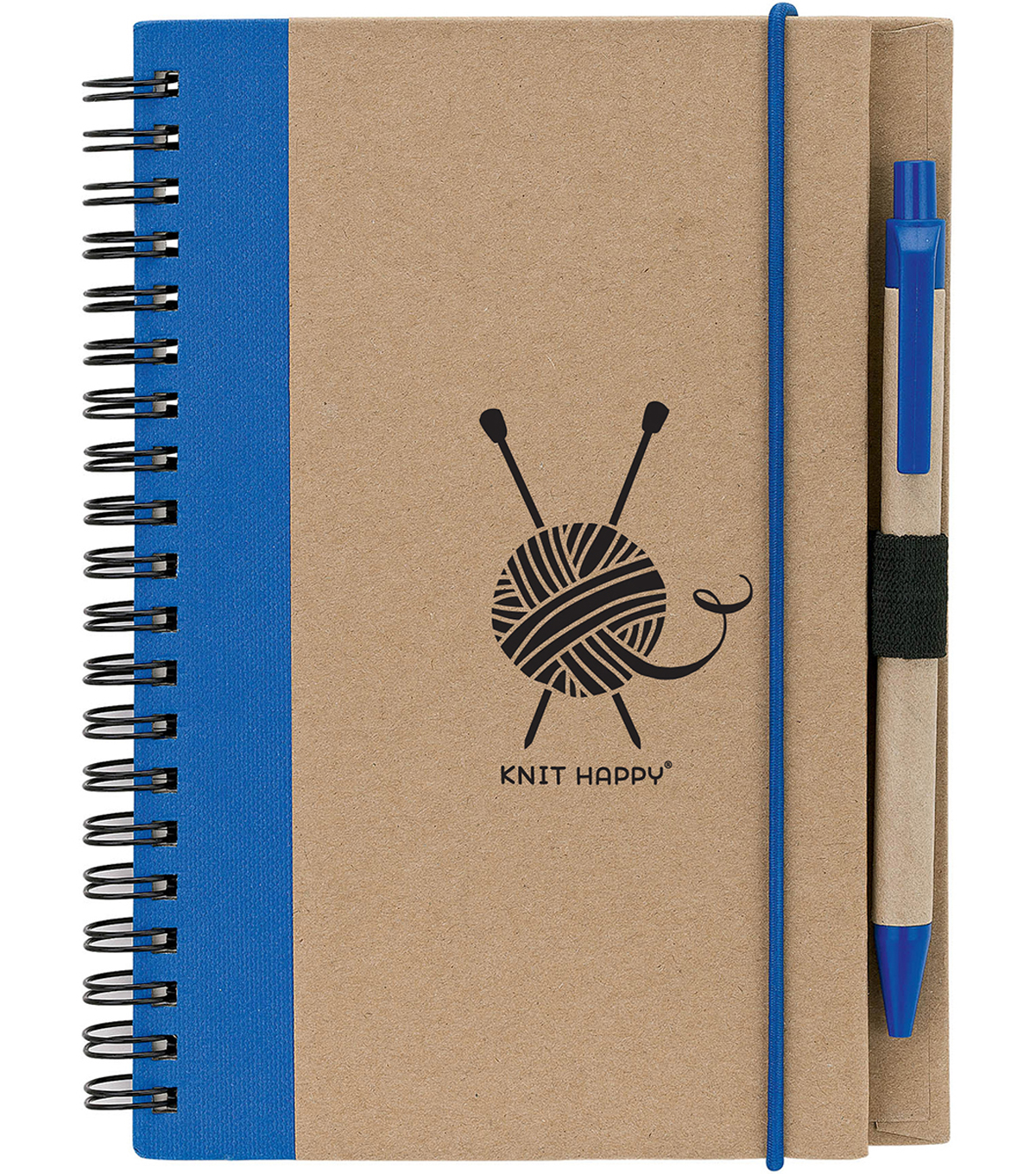 Knit Happy Eco Journal w/Pen-Blue