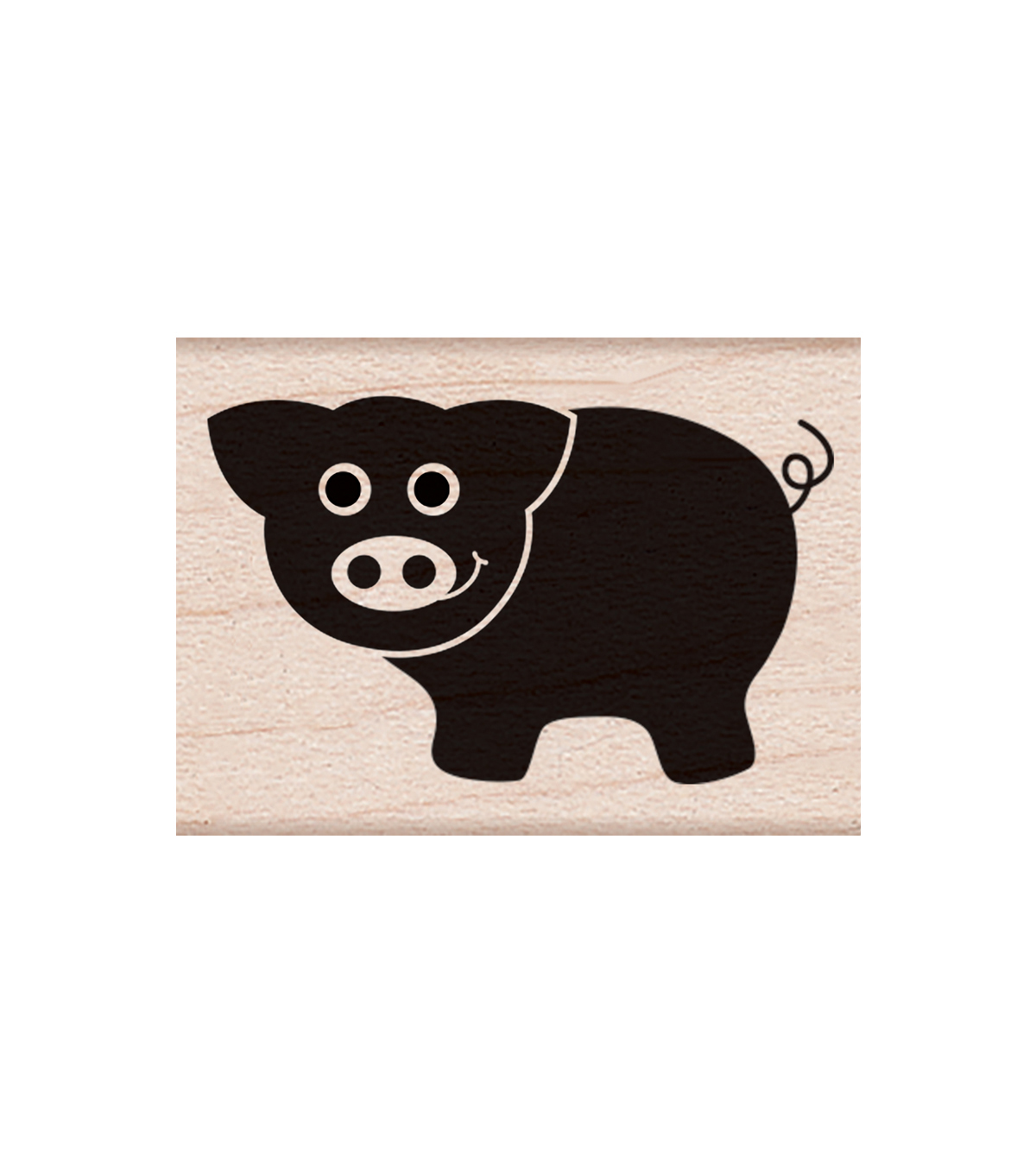 Hero Arts Wood Mounted Rubber Stamp-Little Pig
