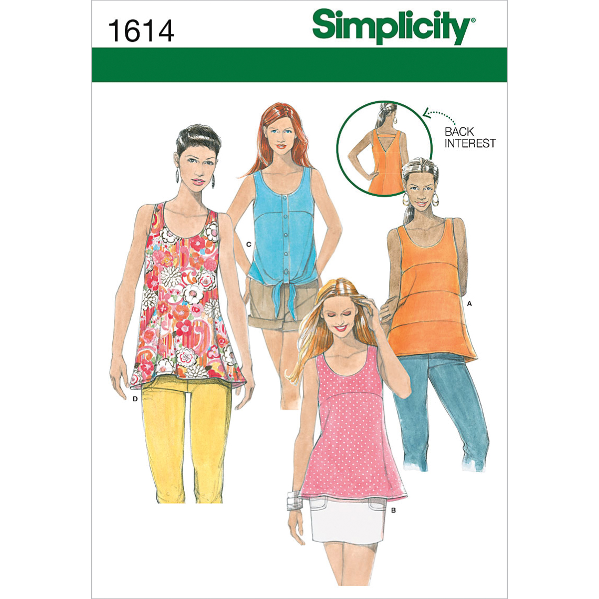 Simplicity Pattern 1614D5 4-6-8-10-1-Simplicity Misses To
