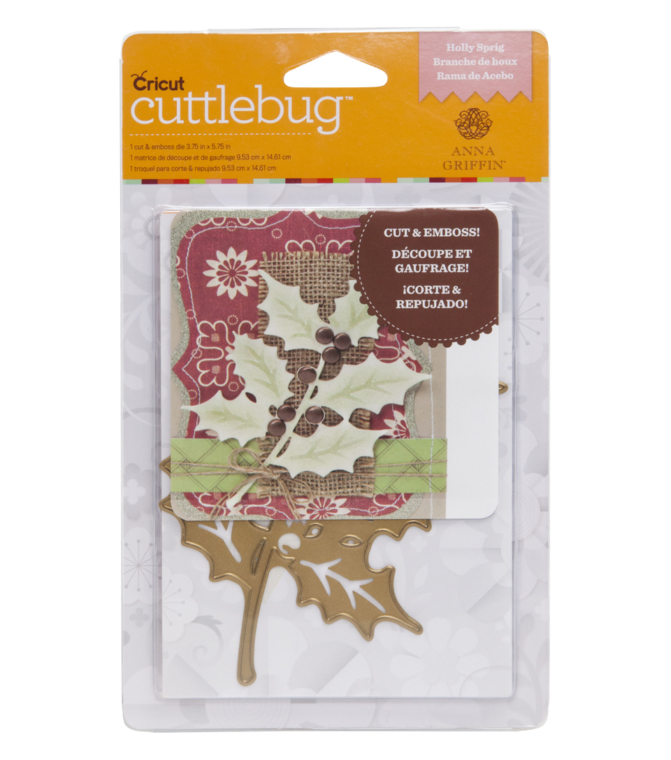 Cuttlebug Anna Griffin Holly Sprig A2 Die