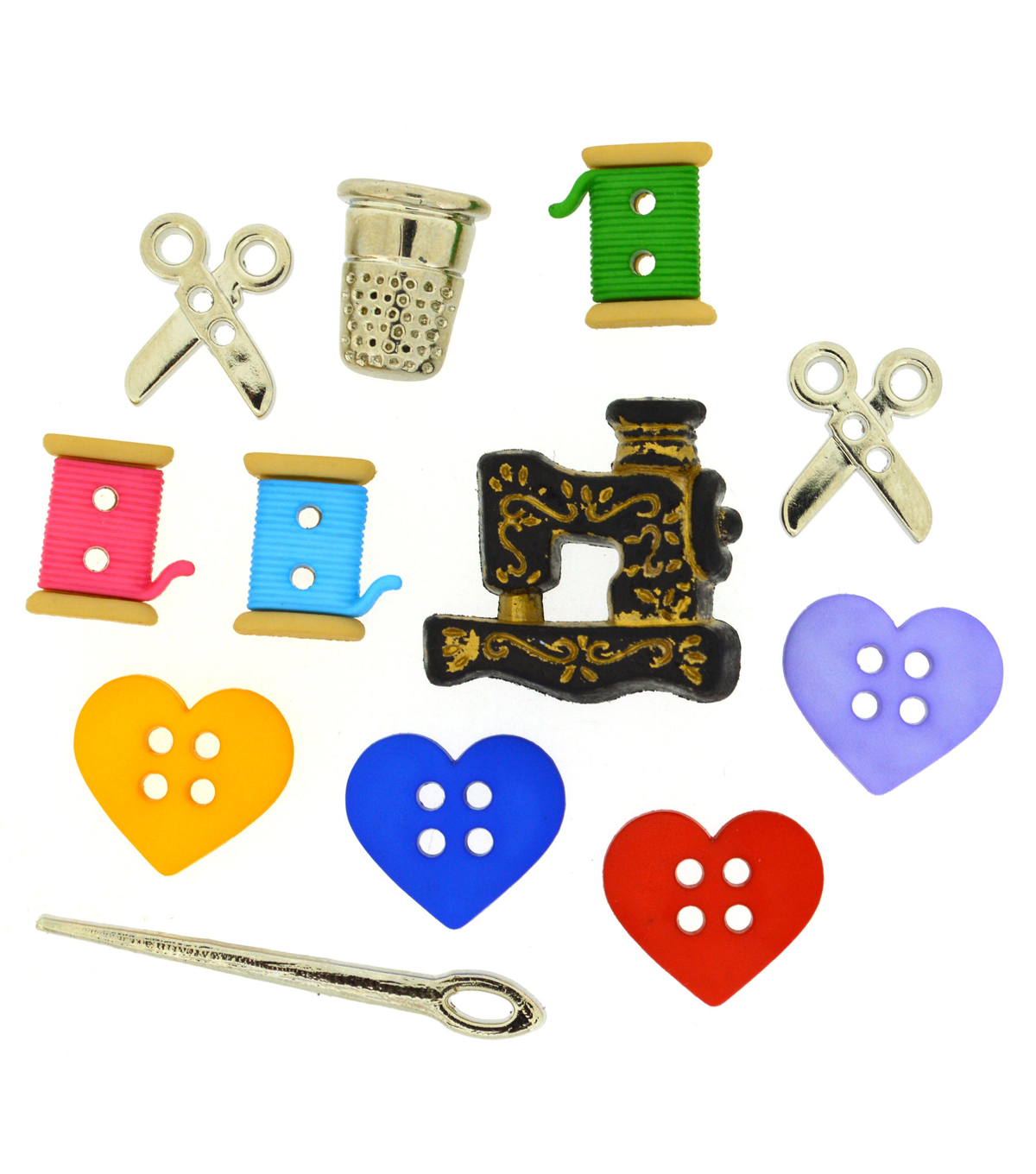 Jesse James Dress It Up Button Embellishments-For the Love of Quilting