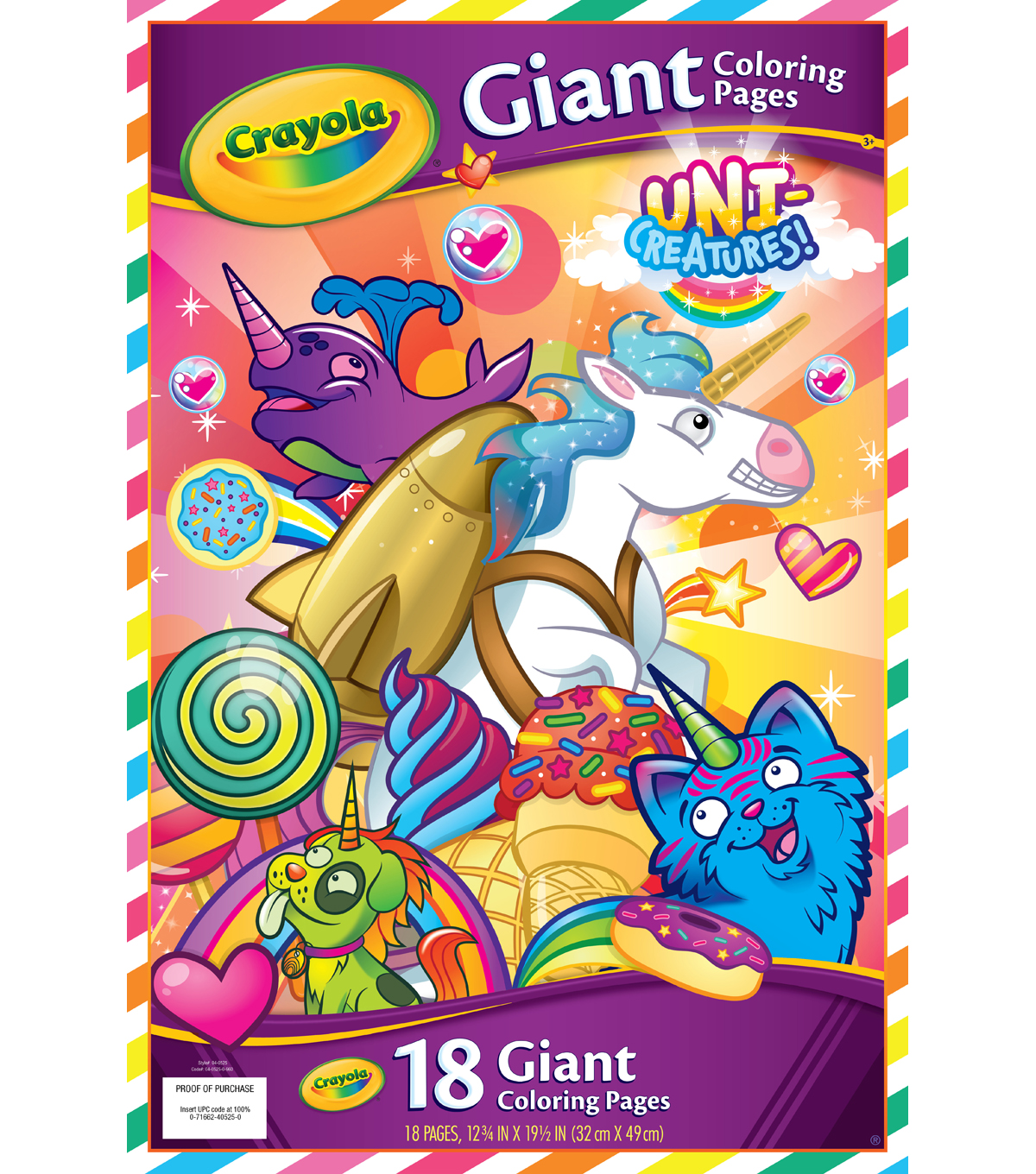 Crayola uni creatures 18 pk 12 75x19 5 giant coloring pages