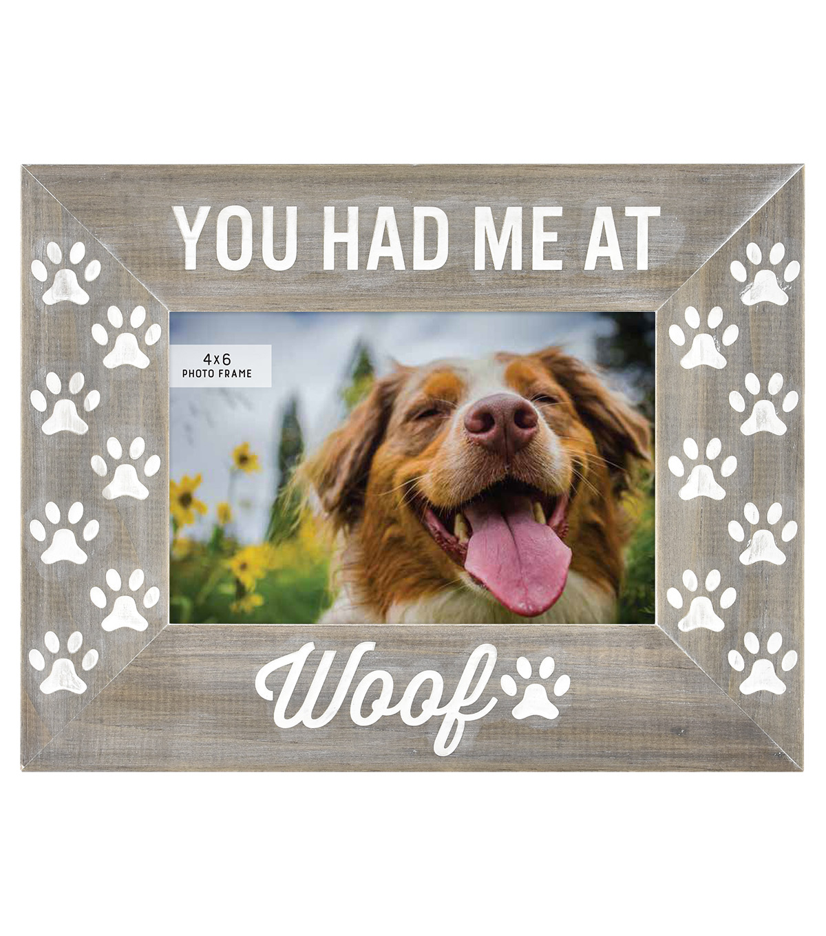 Etched Picture Frame 4\u0027\u0027x6\u0027\u0027-You Had Me At Woof