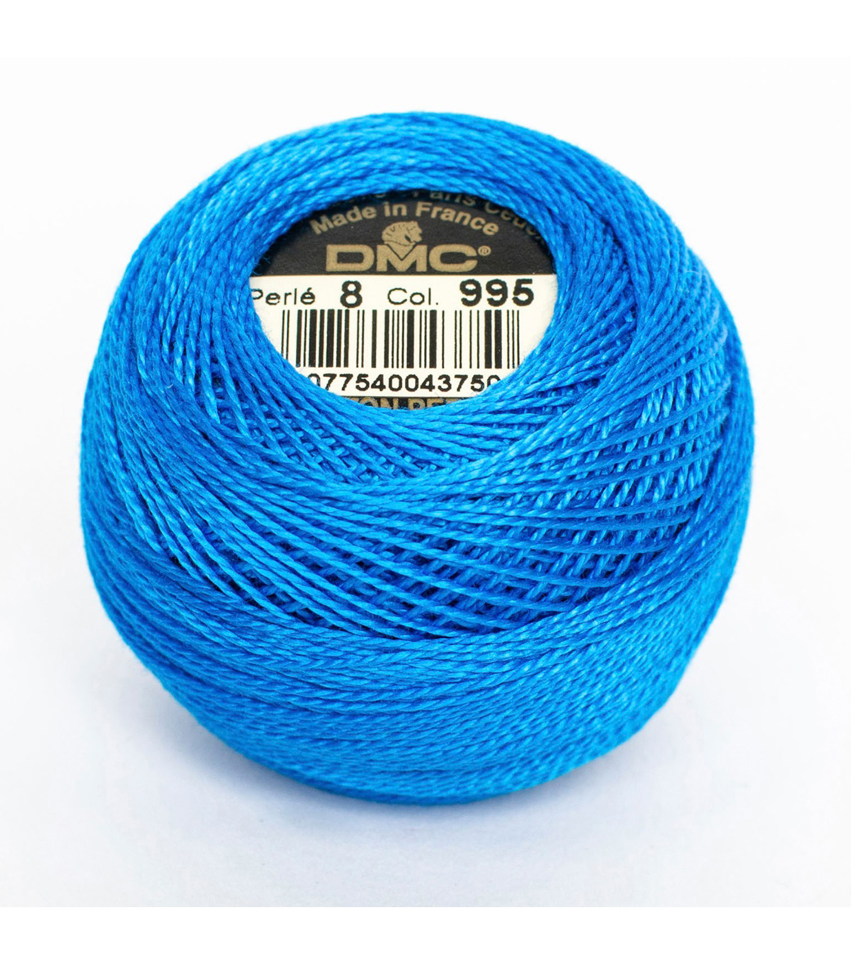 DMC Pearl Cotton Balls Thread 87 Yds Size 8, Dark Electric Blue