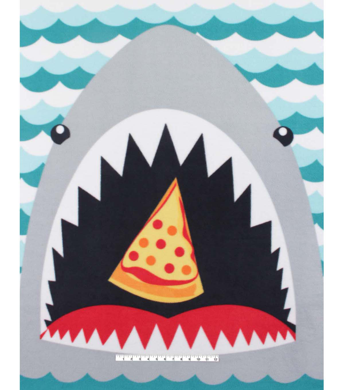 No Sew Fleece Throw 48\u0022-Hungry Shark