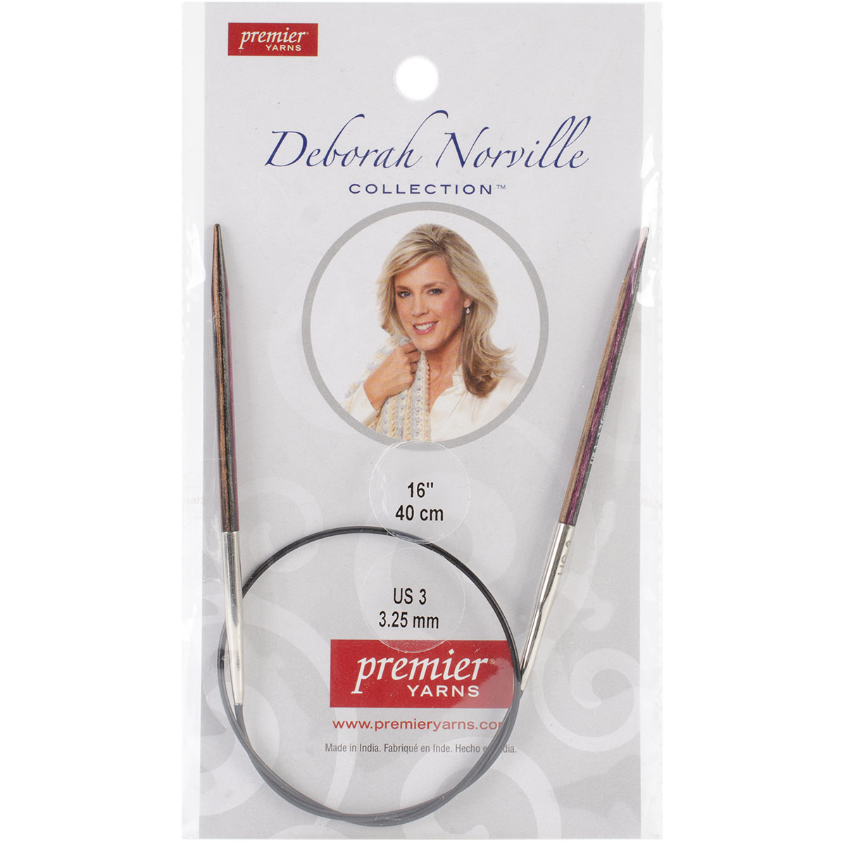 Premier Yarns Fixed Circular Needles 32\u0022-Size 0/2mm