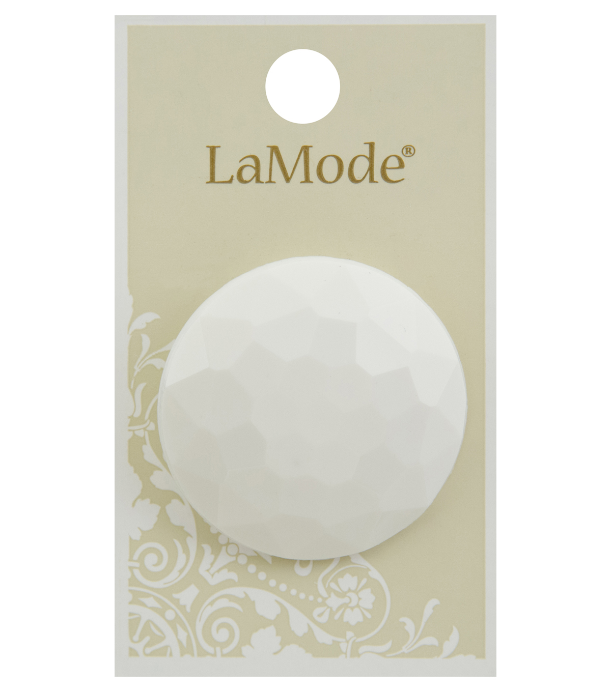 La Mode 1.5\u0027\u0027 Shank Button-White