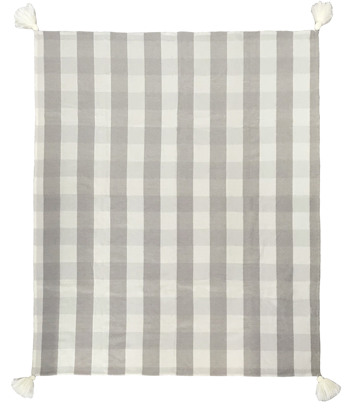 Simply Spring Throw-Gray Plaid