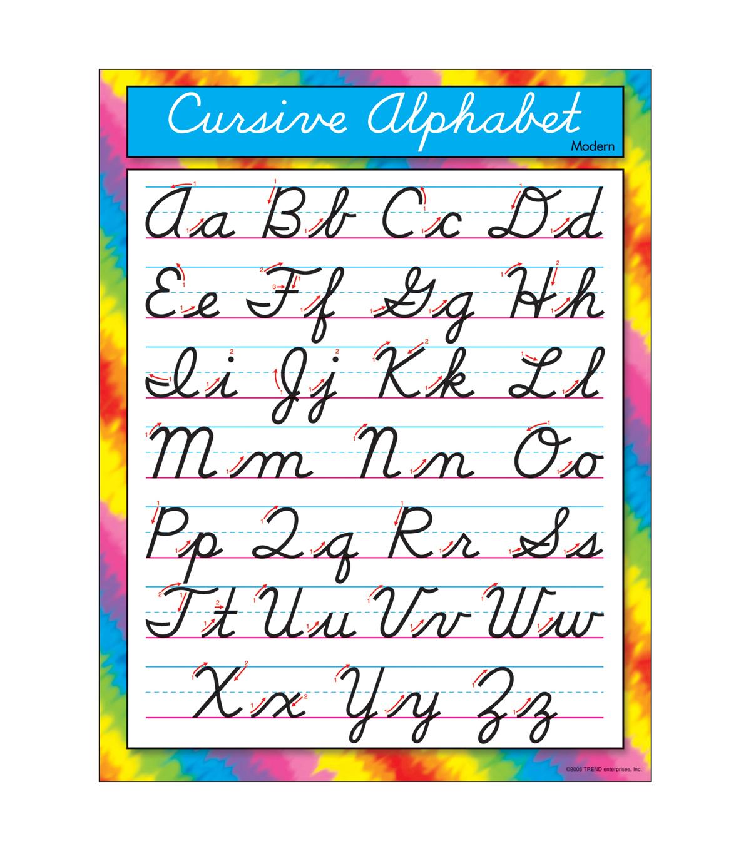 Cursive Alphabet Modern Learning Chart 17