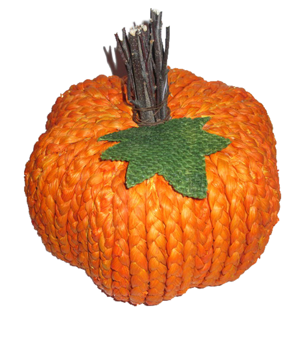 Simply Autumn Medium Braided Pumpkin-Orange